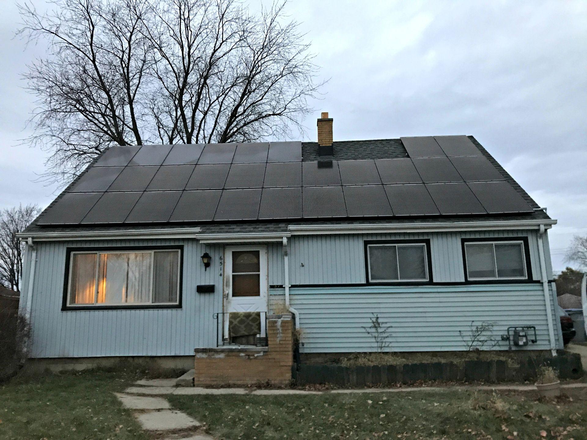 Roof Mount Solar Installation in