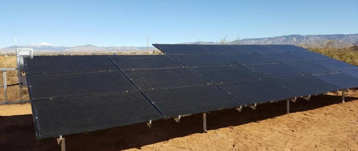 Ground Mount Solar Panel Installation in Tularosa, NM - 1