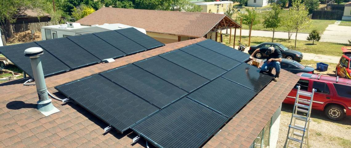 Roof Mount Solar Panel Installation in Amarillo, TX - 1