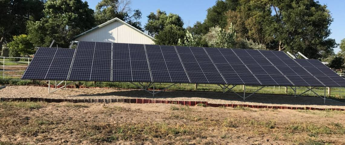 Ground Mount Solar Panel Installation in Eads, CO - 2