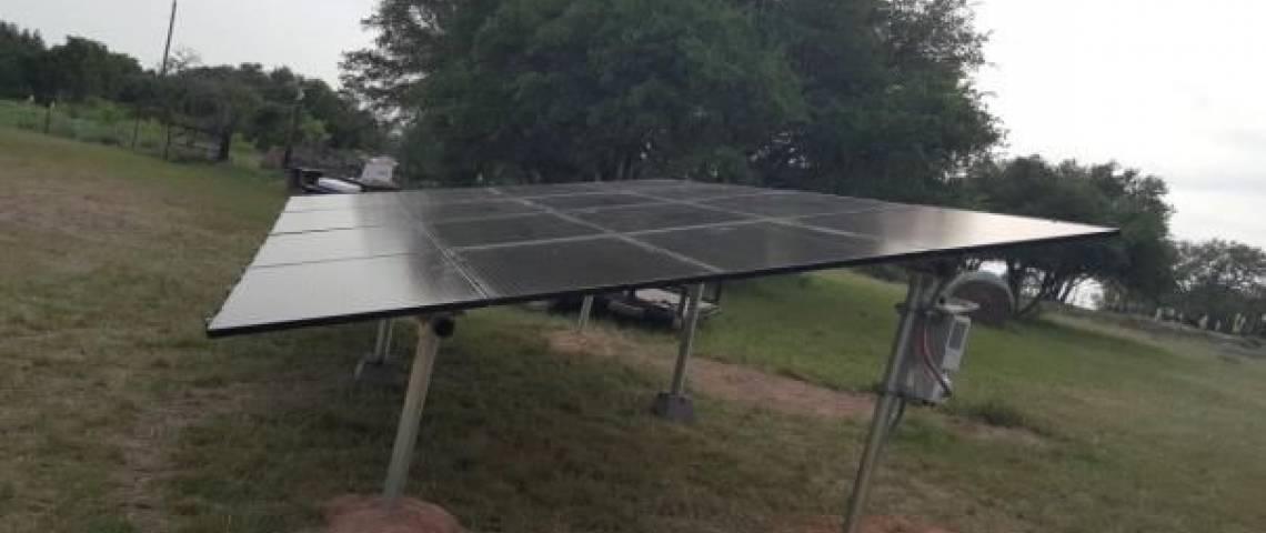 Ground Mount Solar Panel Installation in Zephyr, TX - 1