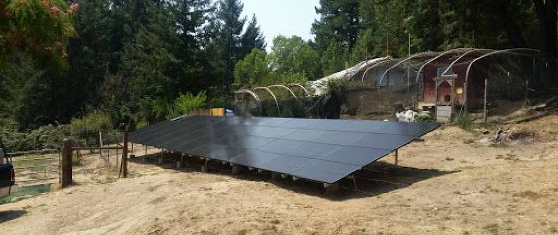 Ground Mount Solar Panel Installation in Whitethorn, CA (12.255 kW) - 2
