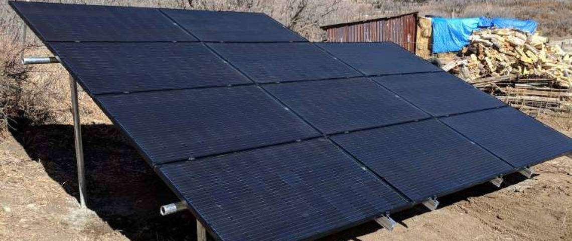 Gound Mount Solar Energy System in Chacon NM