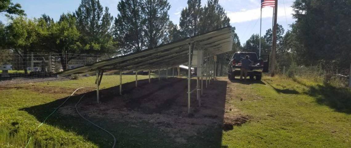 Ground Mount PV Installation in Alturas CA