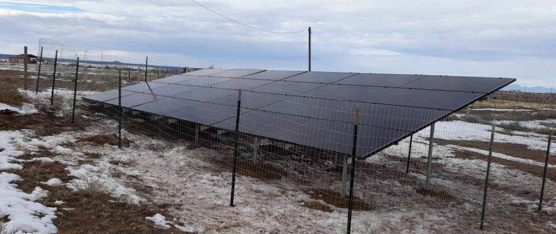 Ground Mount Photovoltaic System in McIntosh NM