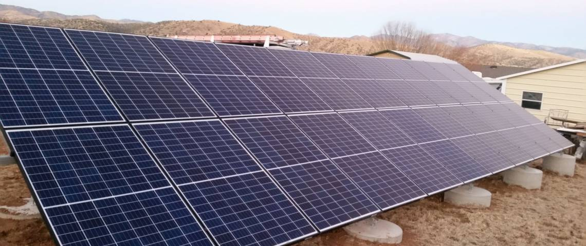 Ground Mount SolarWorld Panels in Mimbres NM