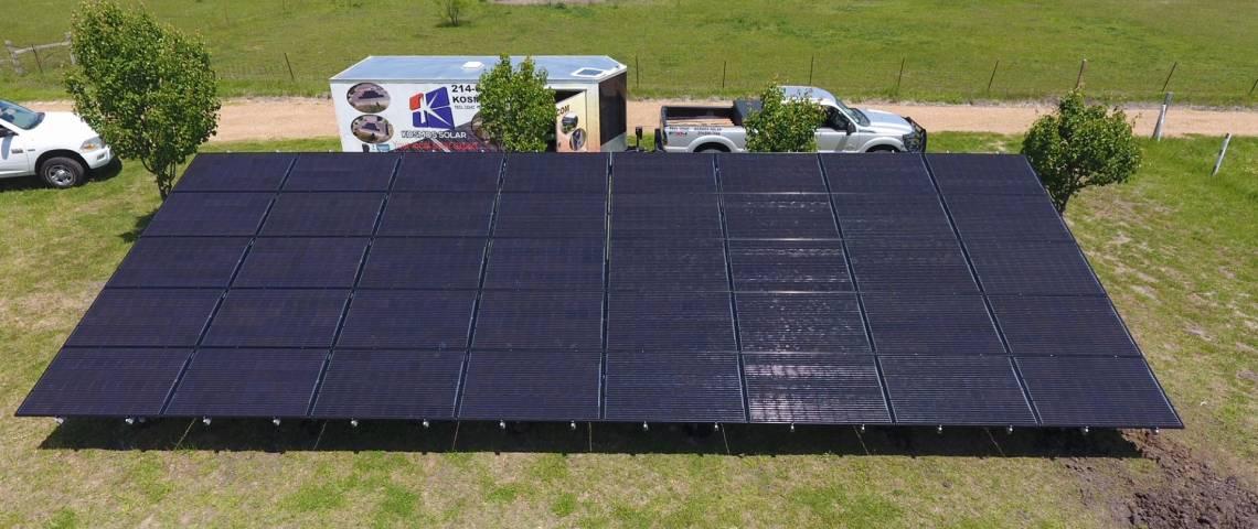 Ground Mount Solar Power System in Caddo Mills, TX
