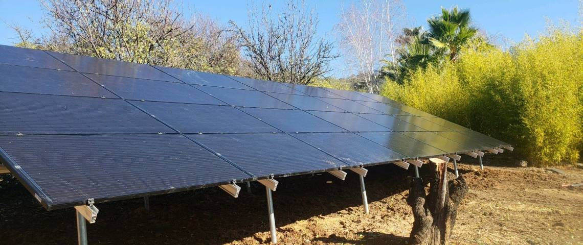 Ground Mount Solar Energy System in Clearlake Oaks CA