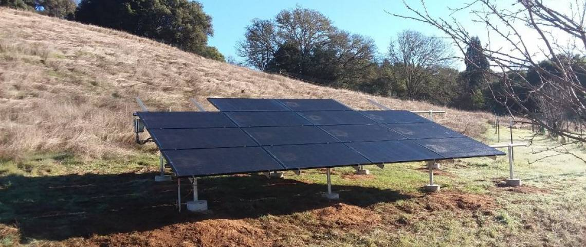 Ground Mount Solar Energy System in Redwood Valley CA