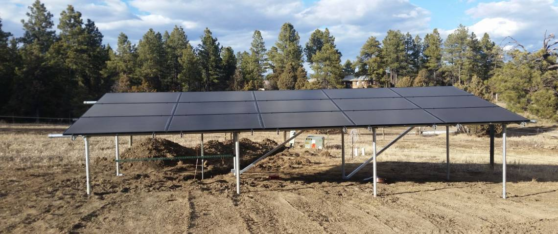 Ground Mount Solar Install in Pagosa Springs CO