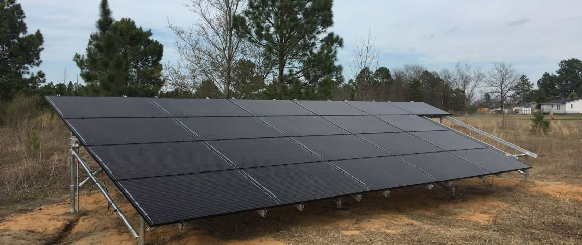 Ground Mount Solar Installation in Cameron NC