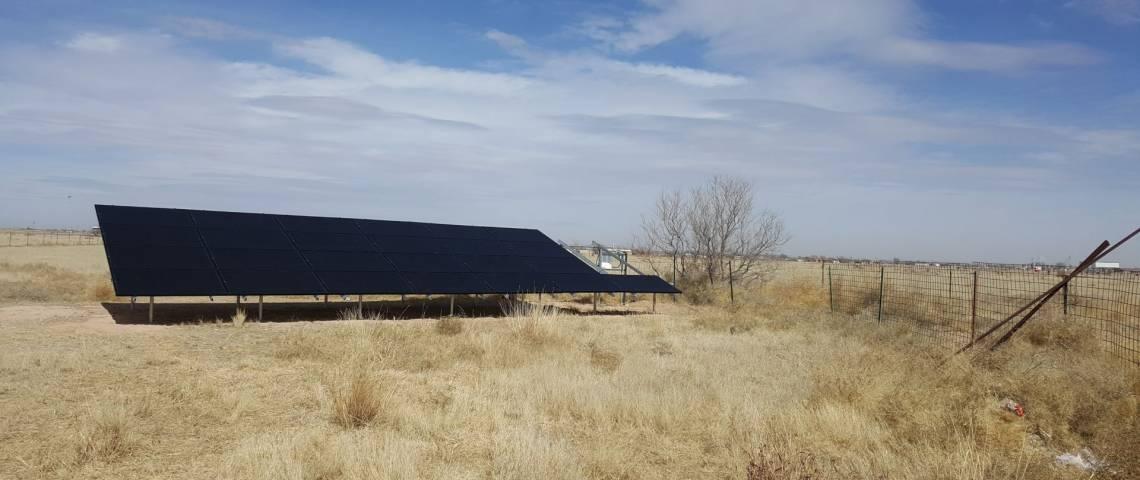 Ground Mount Solar Installation in Dexter NM