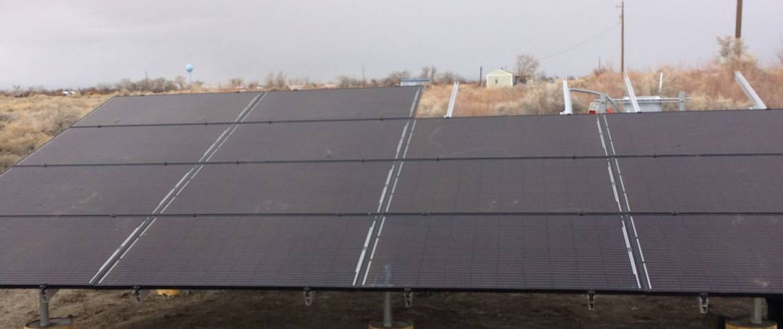 Ground Mount Solar Installation in Fallon NV