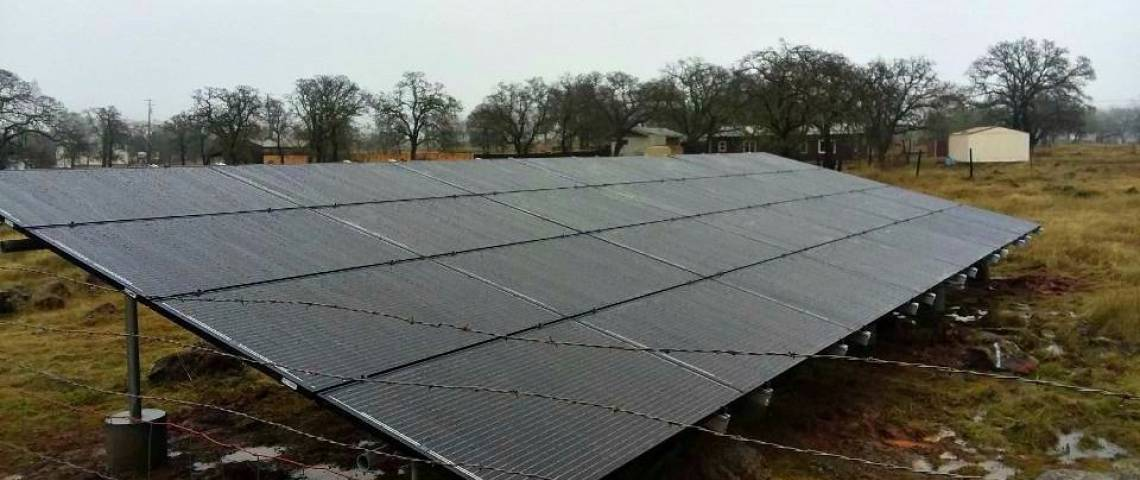 Ground Mount Solar Installation in Lower Lake CA