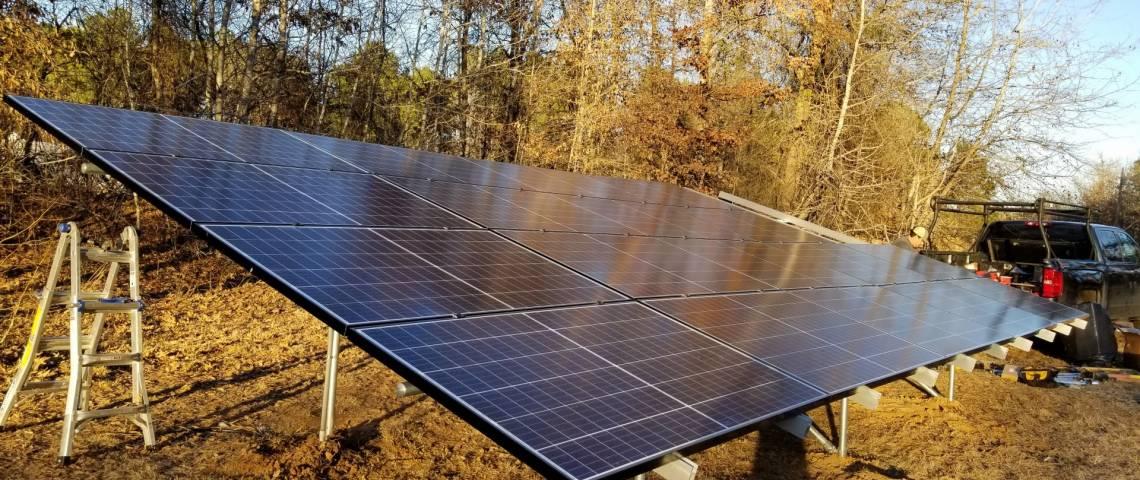 Ground Mount Solar Installation in Marshall TX