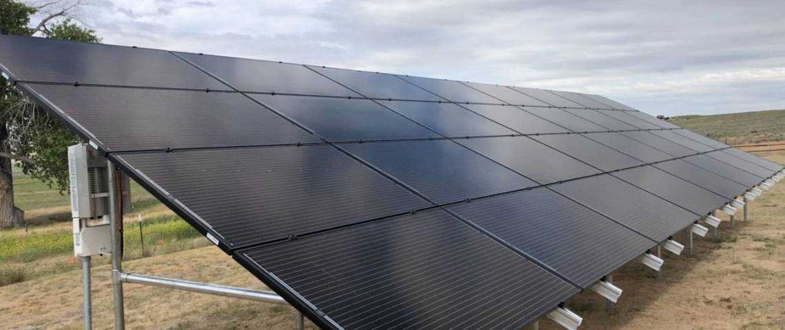 Ground Mount Solar Installation in Thermopolis WY