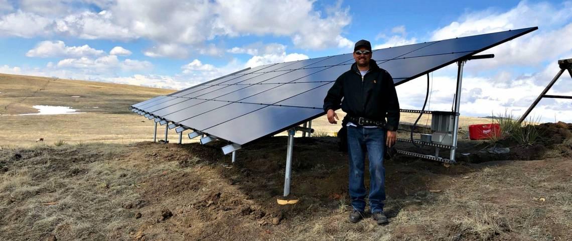 Ground Mount Solar Panel Array in Peyton CO