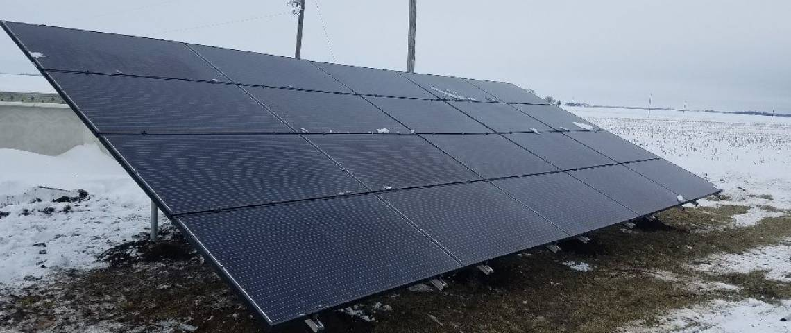 Ground Mount Solar Panel Install in Beason IL