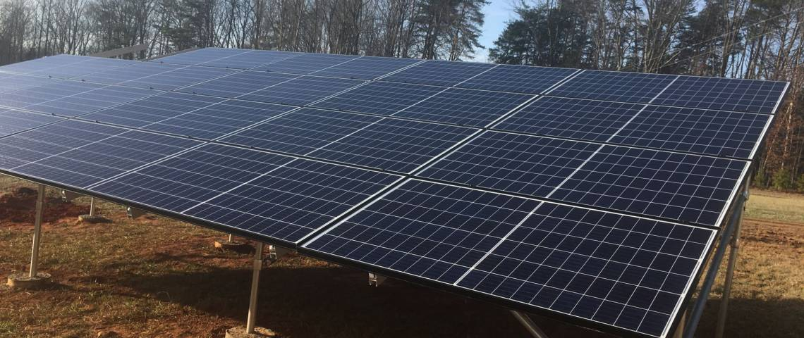 Ground Mount Solar Panel Installation in Pelham NC