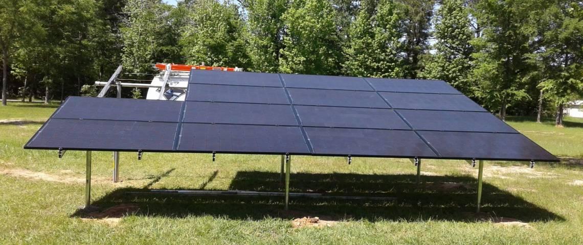 Ground Mount Solar Panel Installation in Waskom TX