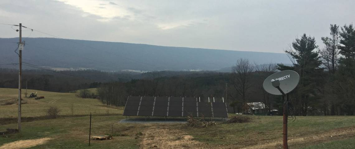 Ground Mount Solar Power System in James Creek PA