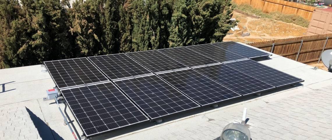 Roof Mount Solar Panel Installation in Ridgecrest, CA