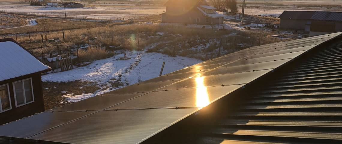 Solar Panel Installation in Afton, WY - Roof Mount