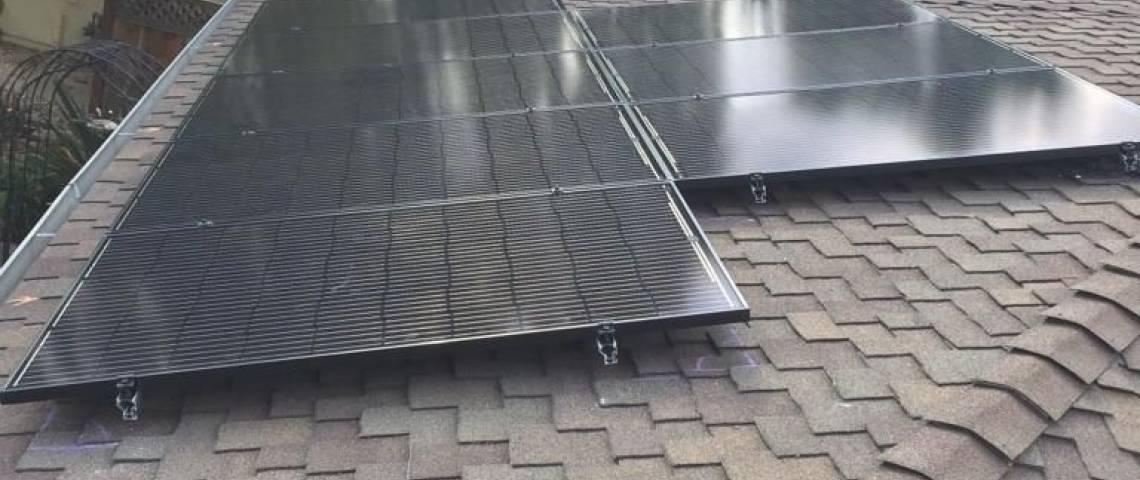 Solar Energy System in Cayton, CA - Beginning Installation