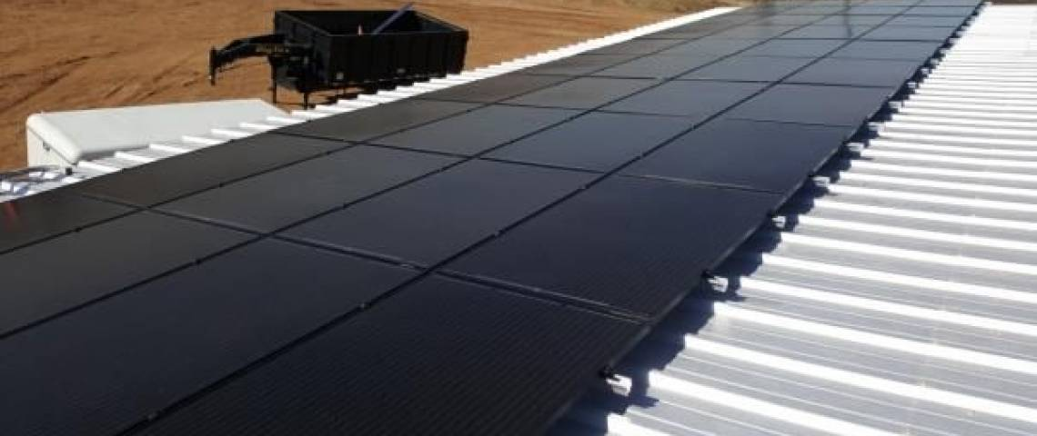 Solar Panel Installation in Big Spring, TX - Side View