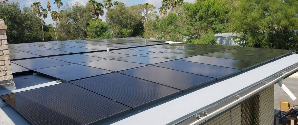 Roof Mount Solar Installation in McAllen, TX