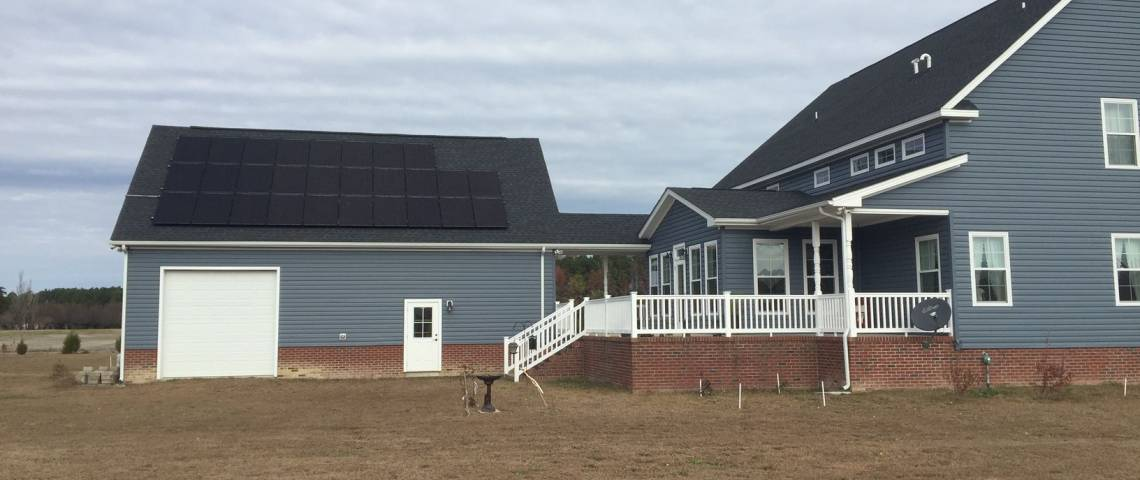 Residential Solar Electric System in Knotts Island NC