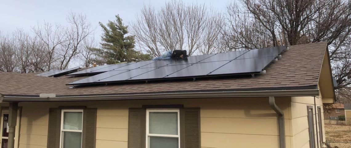 Residential Solar Panel Array in Wichita KS