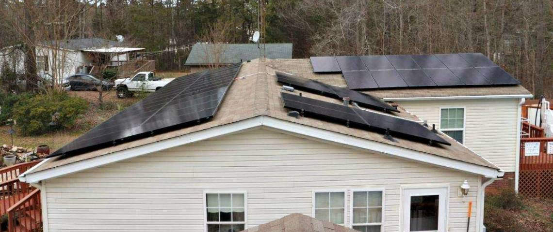 Roof Mount Photovoltaic Installation in York SC