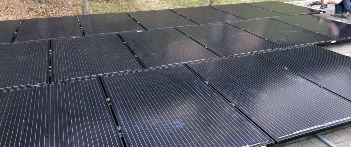 Roof Mount Solar Installation in Center TX