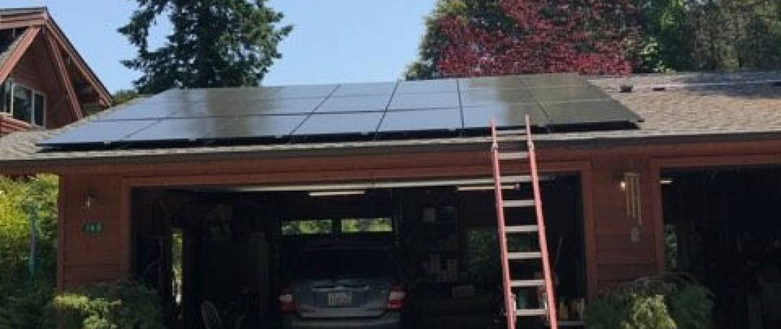 Roof Mount Solar Installation in Gasquet CA