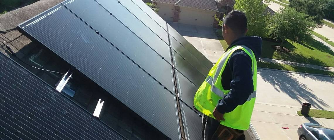 Roof Mount Solar Installation in Katy TX