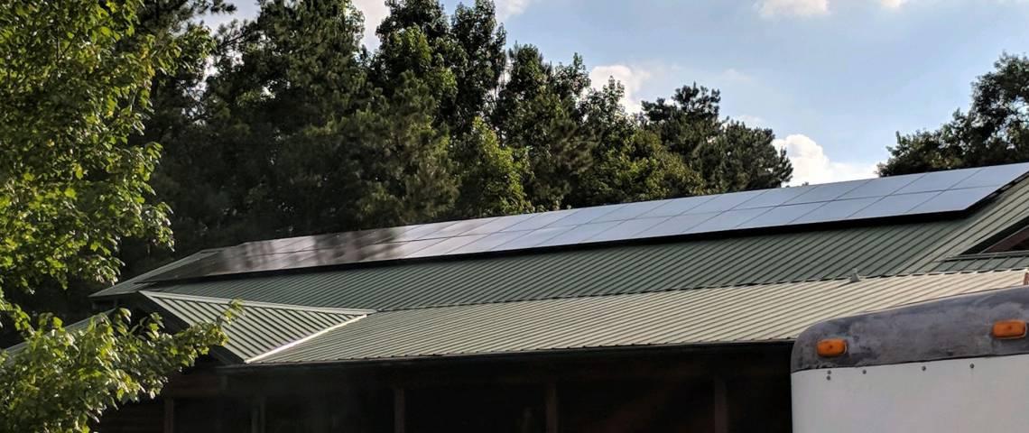 Roof Mount Solar Installation in Loris SC