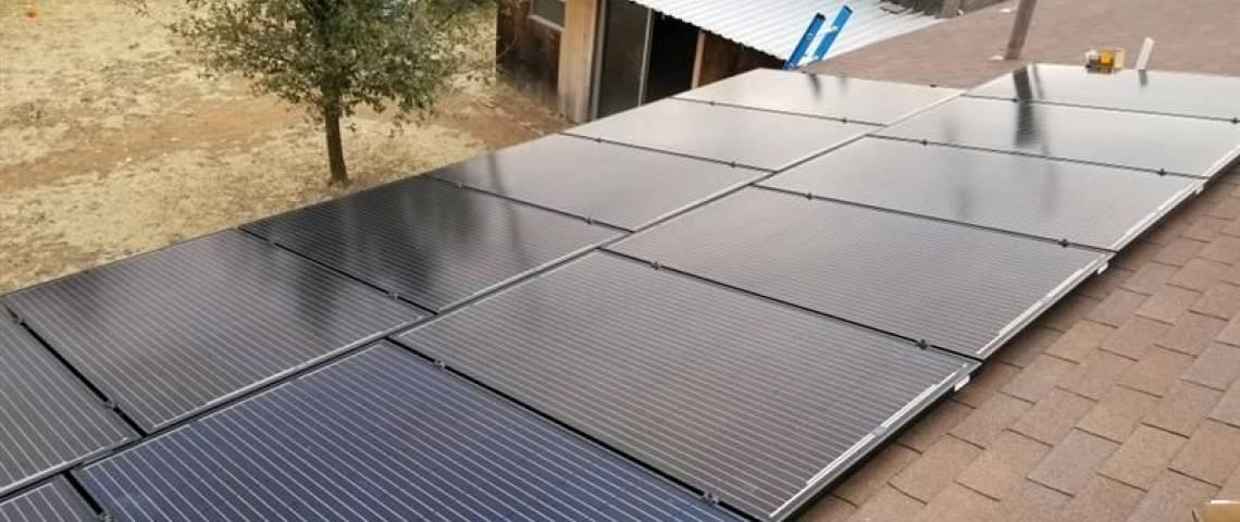 Roof Mount Solar Installation in Midland TX