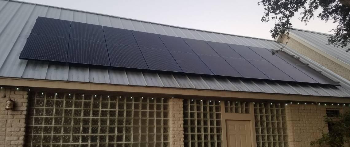 Roof Mount Solar Installation in Palmhurst TX