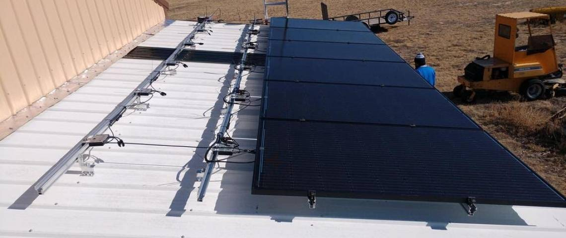 Roof Mounted Solar Install in Calhan CO