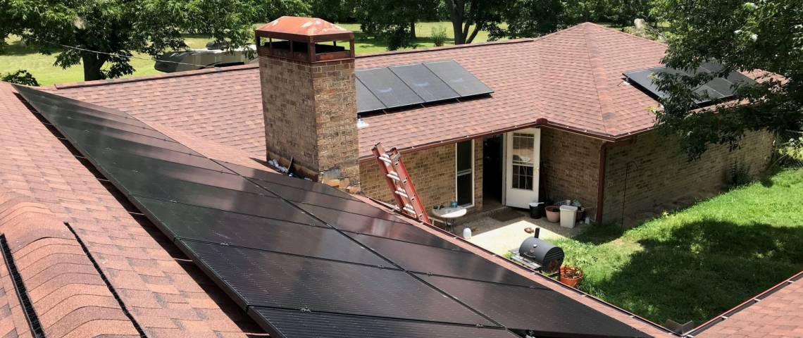 Rooftop PV Solar Install in Timpson TX