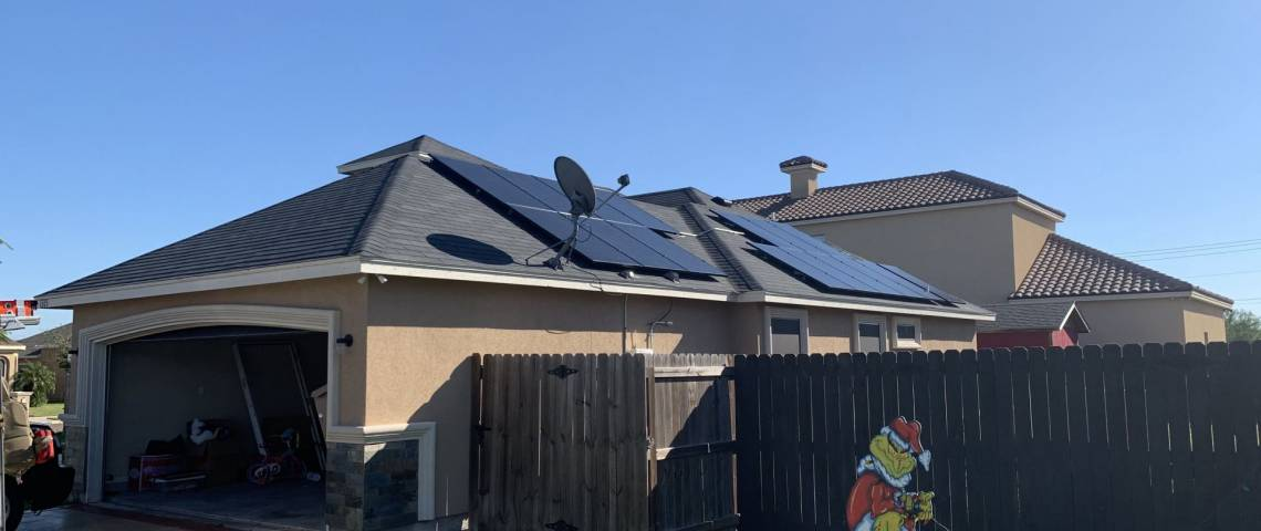 Rooftop Photovoltaic System in Mission TX