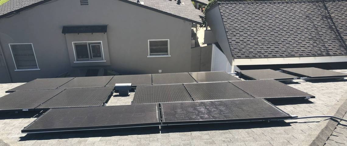 Rooftop Solar Array in Sherman Oaks CA
