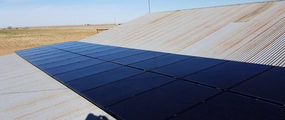 Rooftop Solar Install in Eola TX