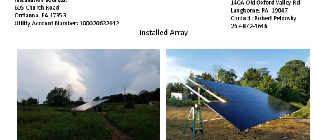 Ground Mount Solar Panel Installation in Orrtanna, PA (9.12 kW)
