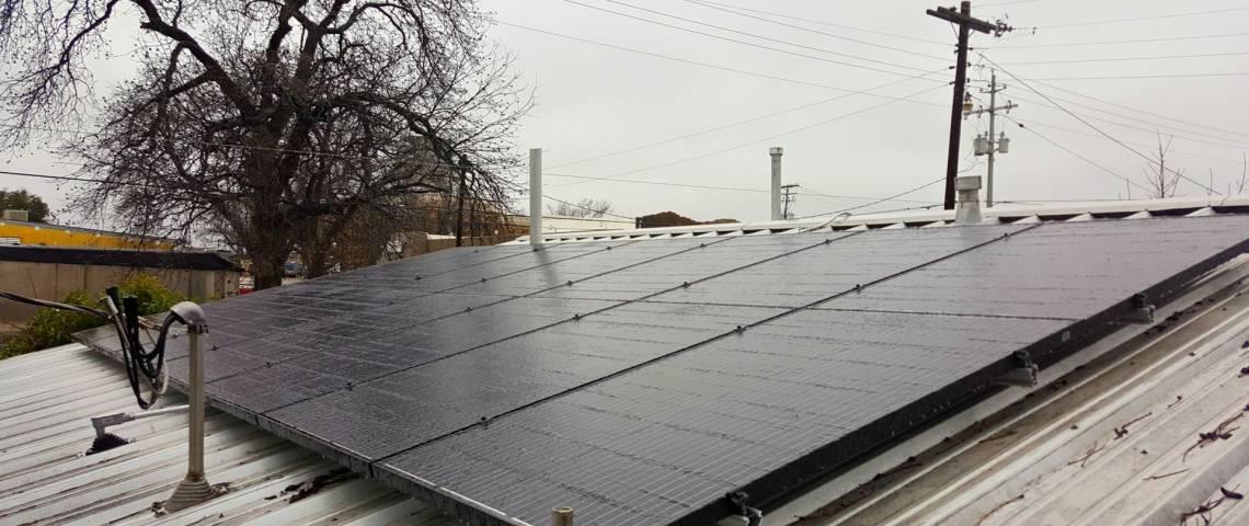 Solar Panel Array in San Saba, TX