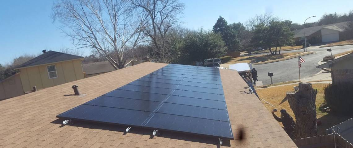 Solar Panel Install in Fort Worth TX