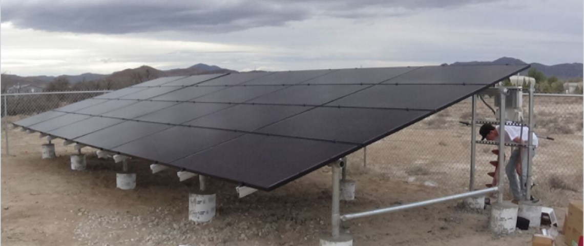 Ground Mount Solar Energy System in Pahrump, NV - Installation