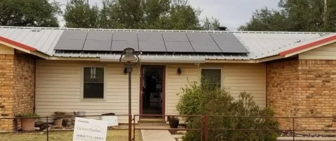 Solar Energy System in Mullin, TX - SolarWorld Panels