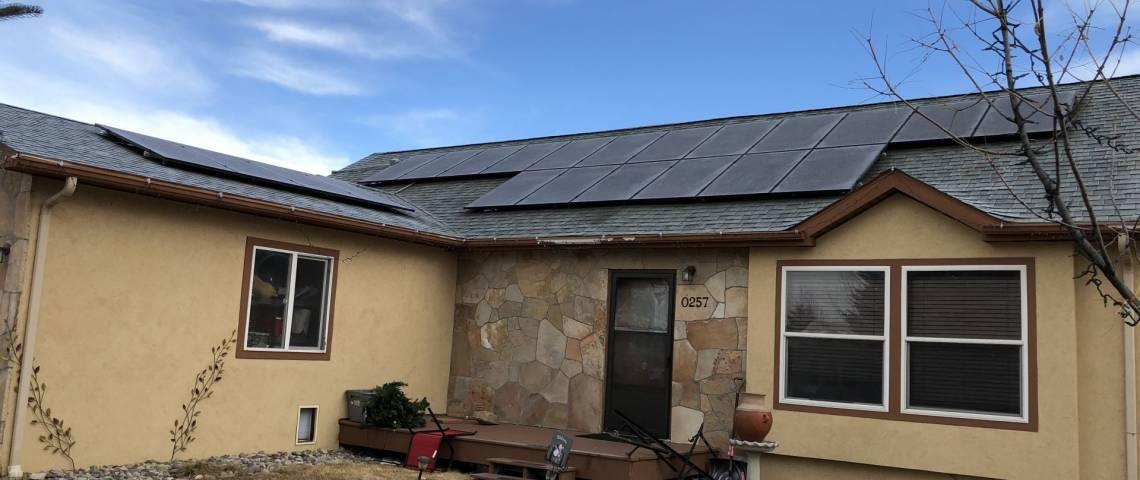 Solar Energy System in Gypsom, CO - SolarWorld panels